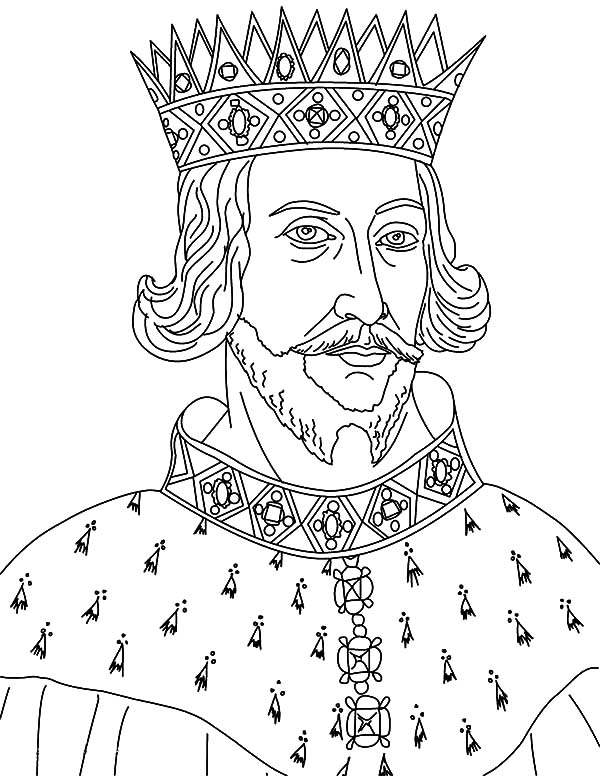 King, : King Henry II Coloring Pages