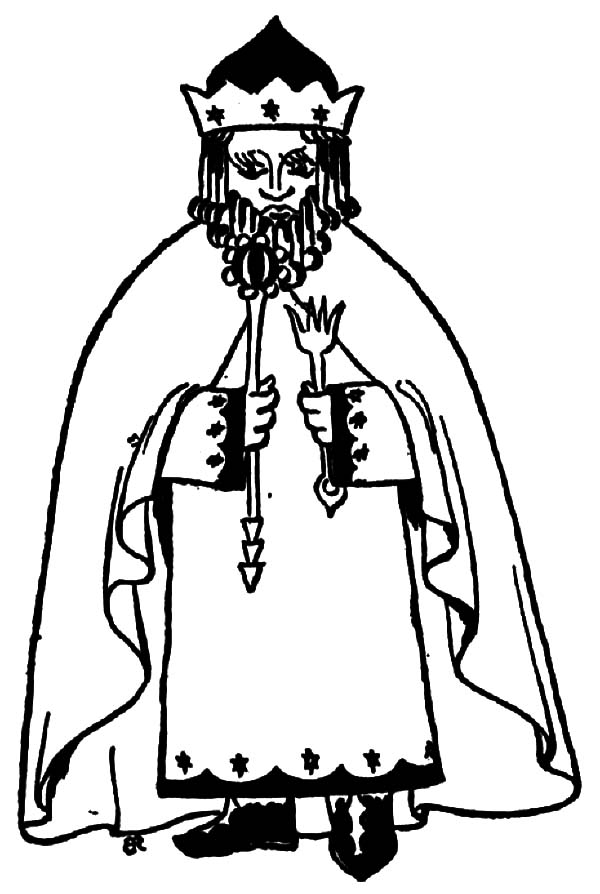 King, : King Holding an Arrow Coloring Pages