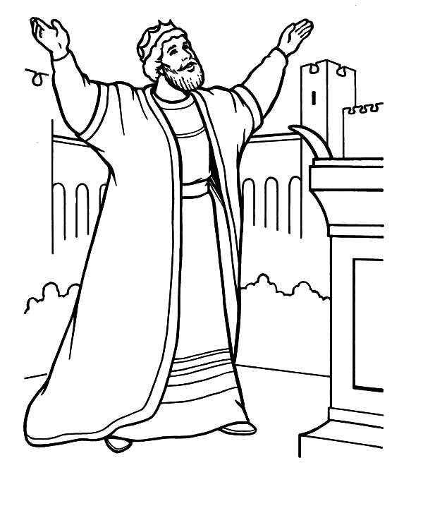 King, : King Solomon Coloring Pages