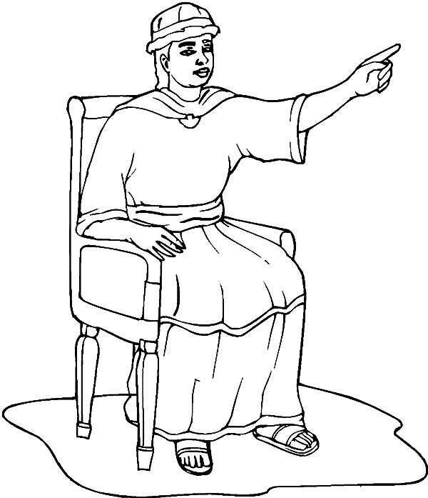 King, : King Solomon Giving an Order Coloring Pages
