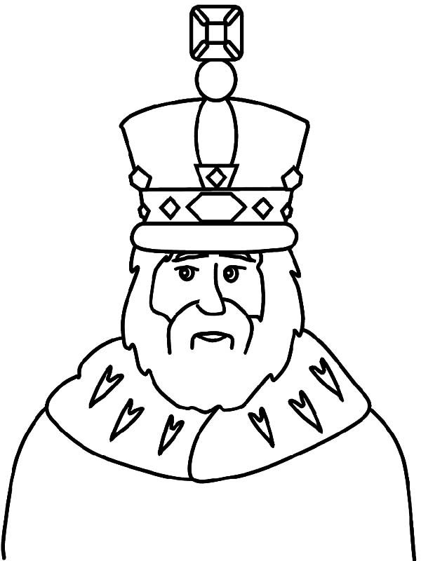 King, : King Wear His Crown Coloring Pages