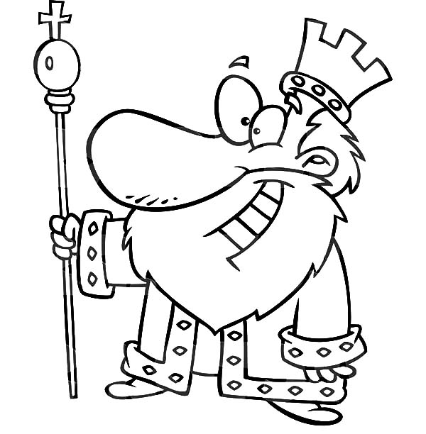 King, : King is Smiling Coloring Pages