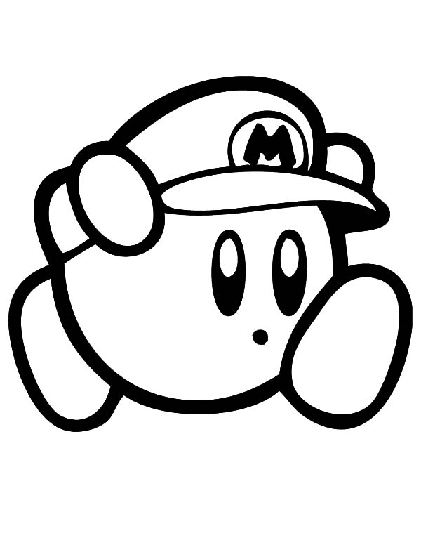 - Kirby Super Mario Coloring Pages : Kids Play Color