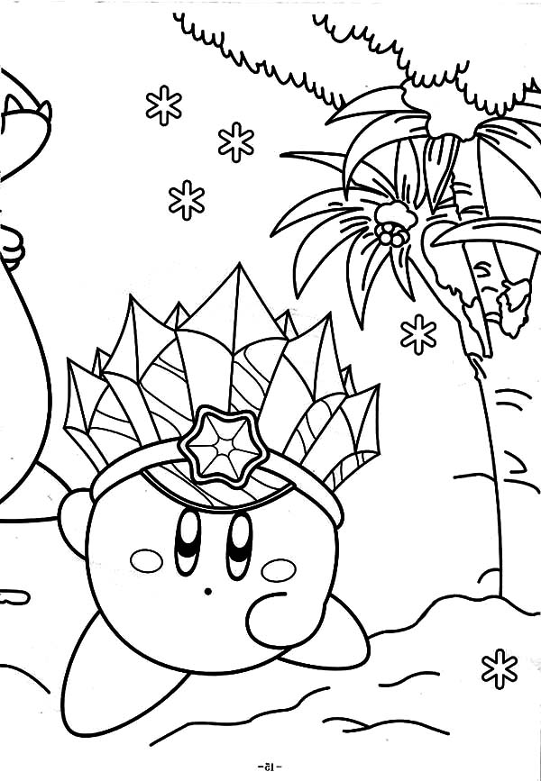 Kirby, : Kirby from Planet Pop Star Coloring Pages
