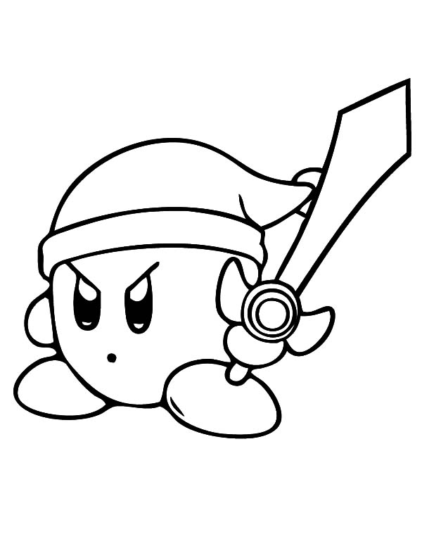 Kirby, : Kirby the Guardian the Kingdom of Dream Land Coloring Pages