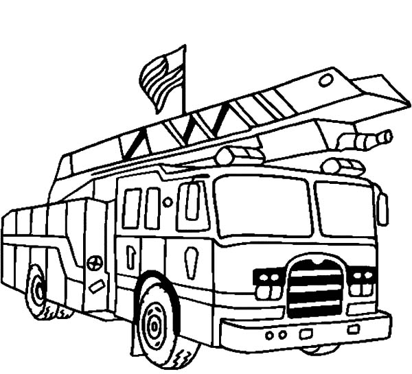 Fire Engine, : Lego Fire Engine Coloring Pages