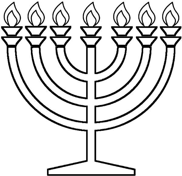 Kinara, : Light Seven Candle Kinara Coloring Pages