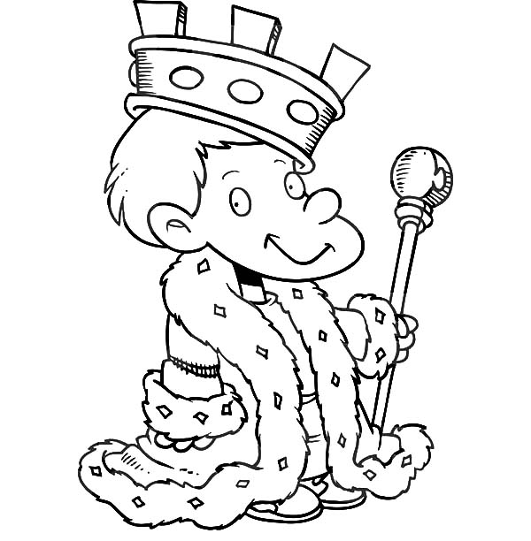 Little King Coloring Pages : Kids Play Color