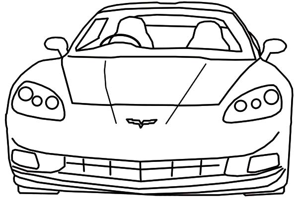 Corvette Cars, : Luxurious Corvette Cars Coloring Pages