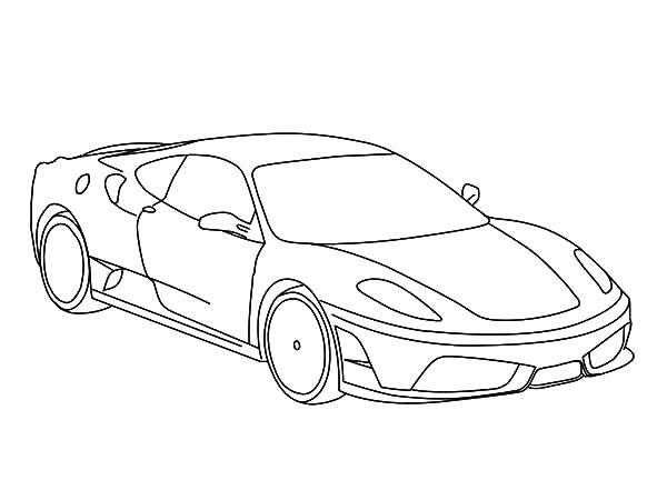 Ferrari Cars, : Luxurious Ferrari Cars Coloring Pages