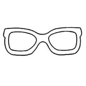 eyeglasses coloring pages - photo#32