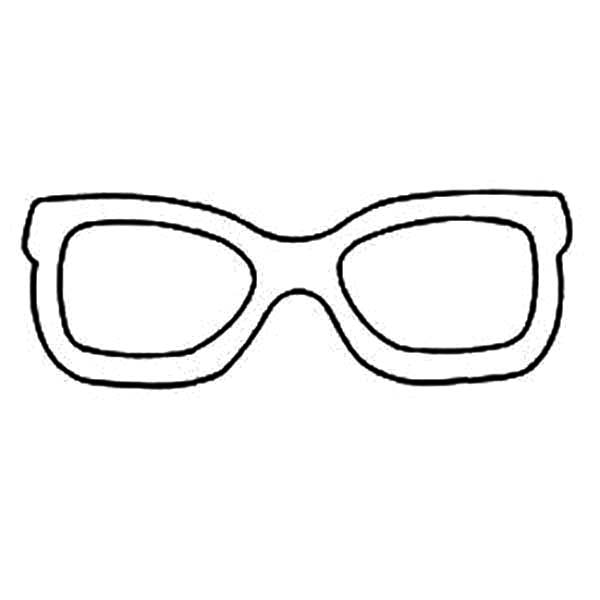 Eyeglasses, : Picture of Eyeglasses Coloring Pages