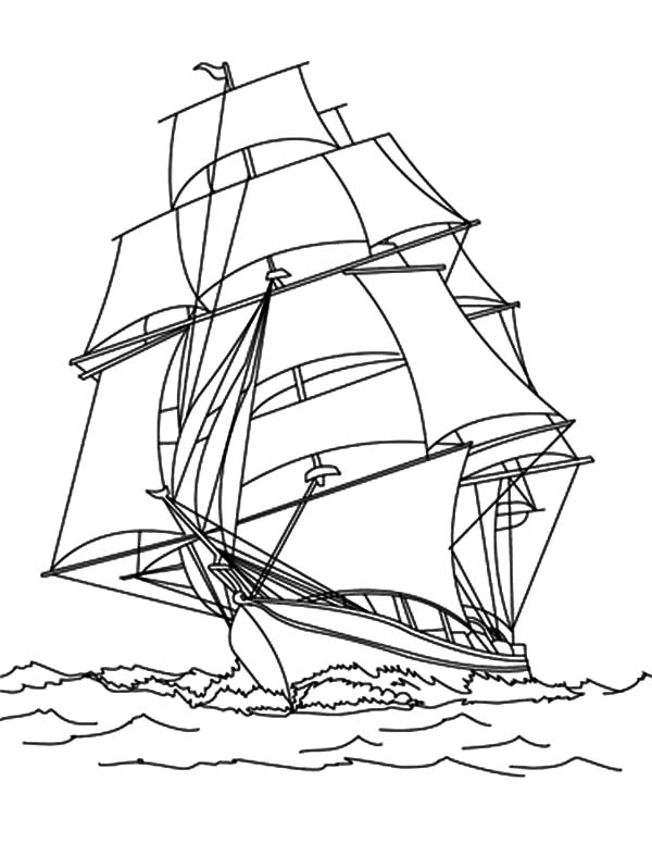 Fishing Boat, : Pirate Fishing Boat Coloring Pages