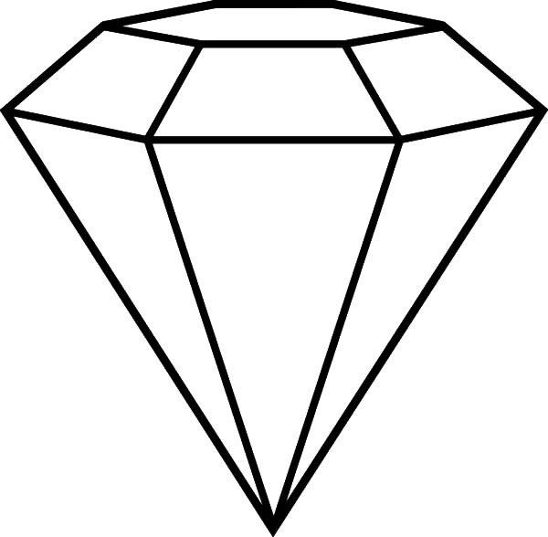 Diamond Shape, : Popular Diamond Shape Cut Coloring Pages