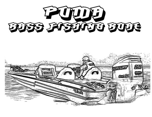 Puma Bass Fishing Boat Coloring Pages : Kids Play Color