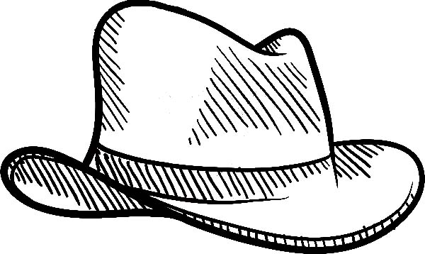 Cowboy Hat, : Ranch Worker Cowboy Hat Coloring Pages