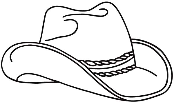 Realistic Cowboy Hat Picture Coloring Pages Kids Play Color