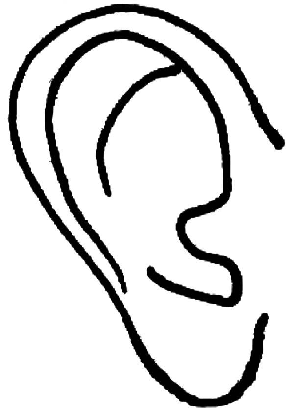 Ear, : Right Ear Coloring Pages