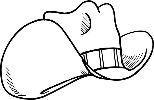 Cowboy Hat, : Rodeo Cowboy Hat Coloring Pages