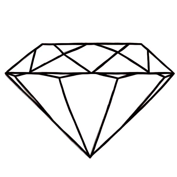 Diamond Shape, : Round Diamond Shape Coloring Pages