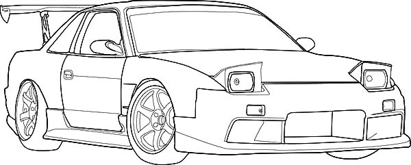 S13 Drifting Cars Coloring Pages Kids Play Color