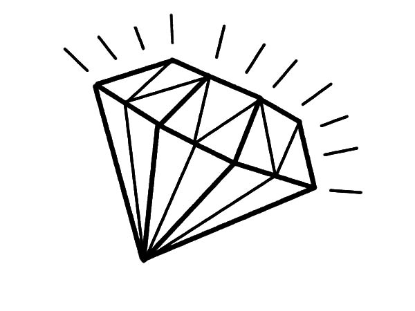 Shiny Light Diamond Shape Coloring Pages : Kids Play Color