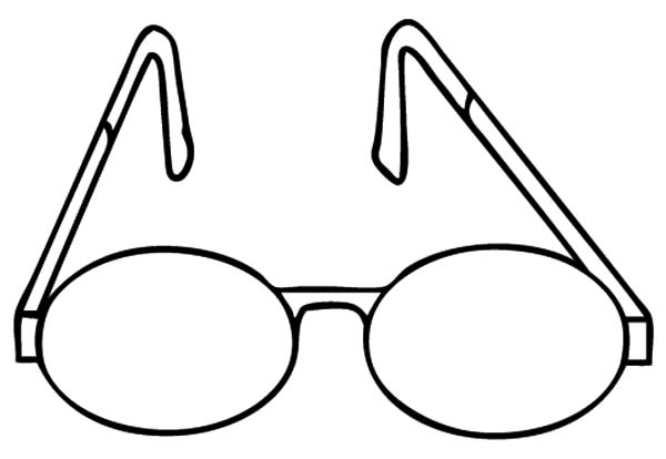 Eyeglasses, : Simple Design Eyeglasses Coloring Pages