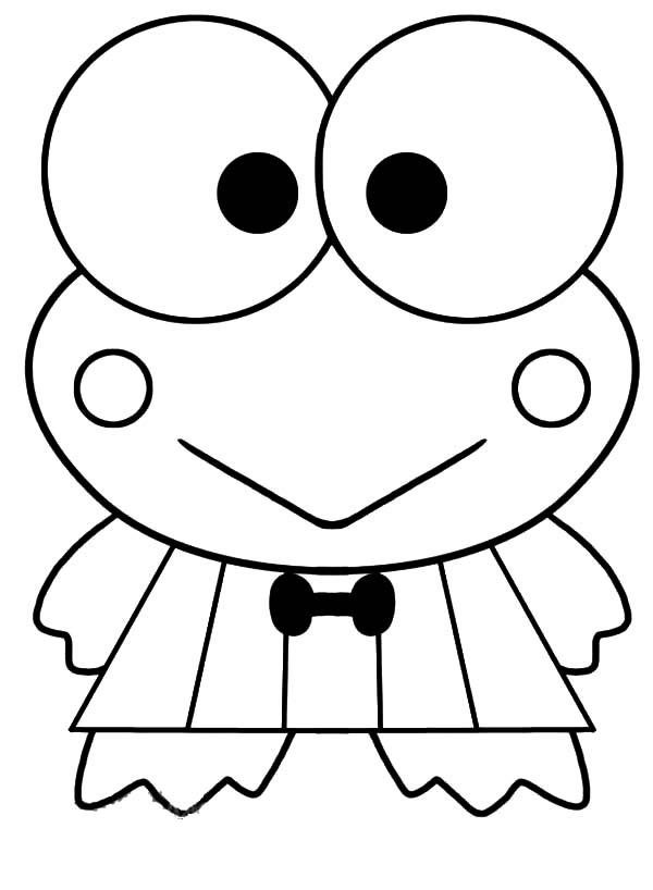 Keroppi, : Smiling Keroppi Coloring Pages