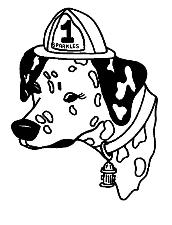 Fire Dog, : Sparkles the Fire Safety Dog Feeling Sad Coloring Pages