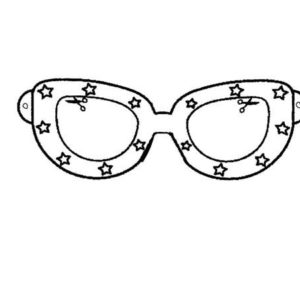 Broken Eyeglasses Coloring Pages