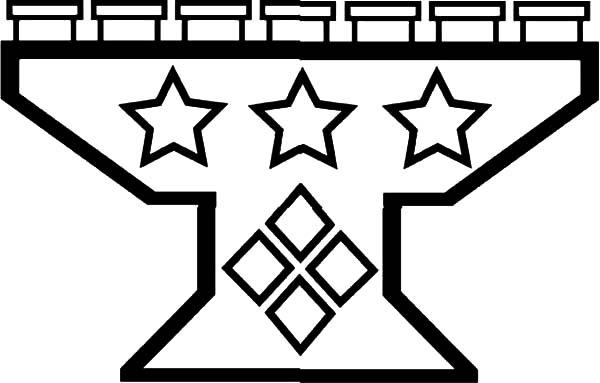 Kinara, : Star Decorated Kinara Coloring Pages
