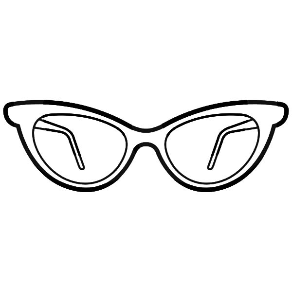 Eyeglasses, : Stylish Eyeglasses Coloring Pages