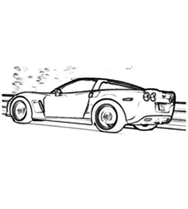 Corvette Cars, : Super Fast Cars Corvette Coloring Pages