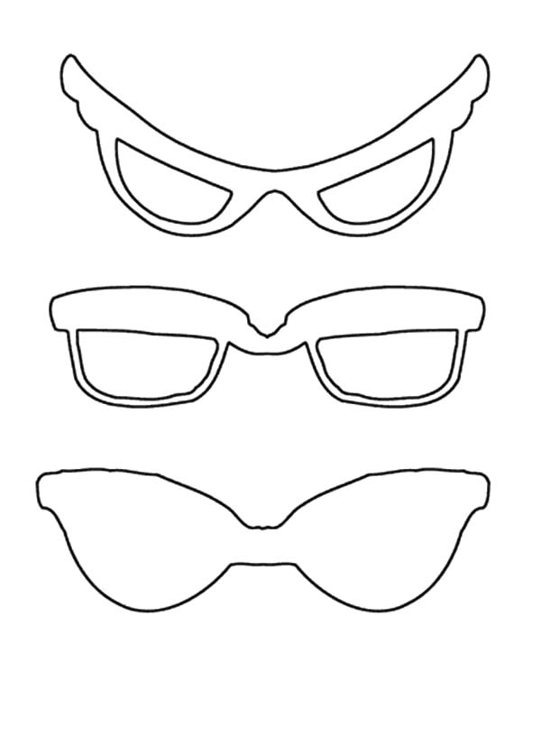 Eyeglasses, : Superhero Eyeglasses Coloring Pages