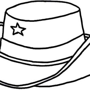 Cowboy Hat Hot By An Arrow Coloring Pages : Kids Play Color