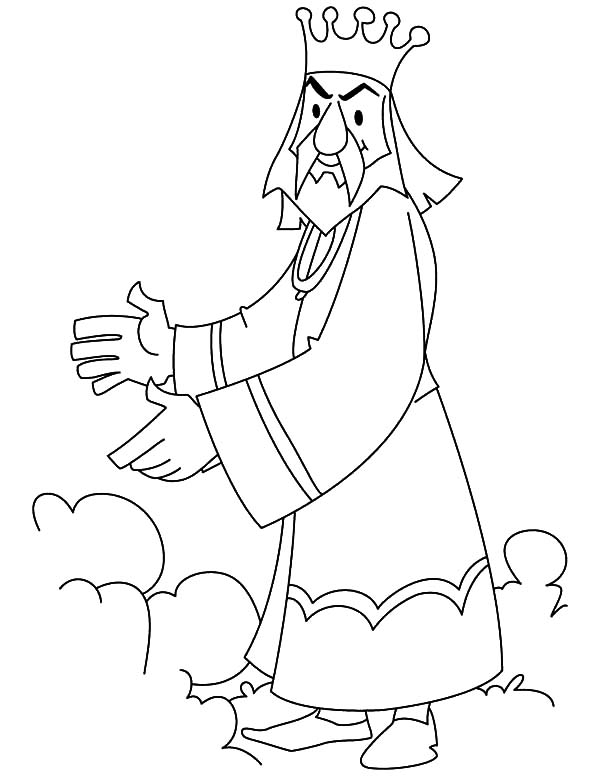 King, : The King is Mad Coloring Pages
