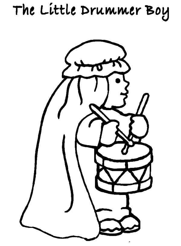 Drummer Boy, : The Little Drummer Boy Coloring Pages
