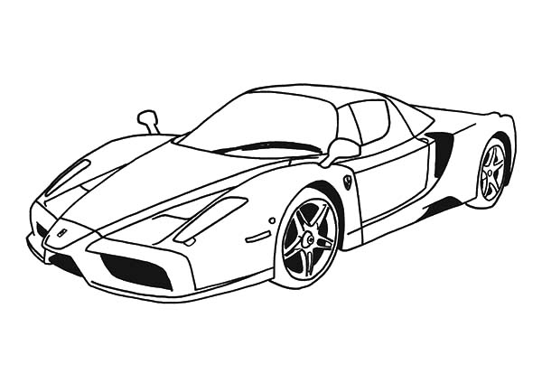 Top Speed Cars Enzo Ferrari Coloring