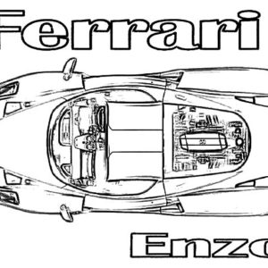Top View Ferrari Enzo Cars Coloring Pages Kids Play Color