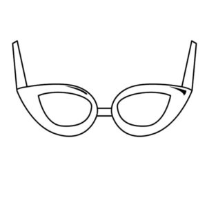 eyeglasses coloring pages - photo#5