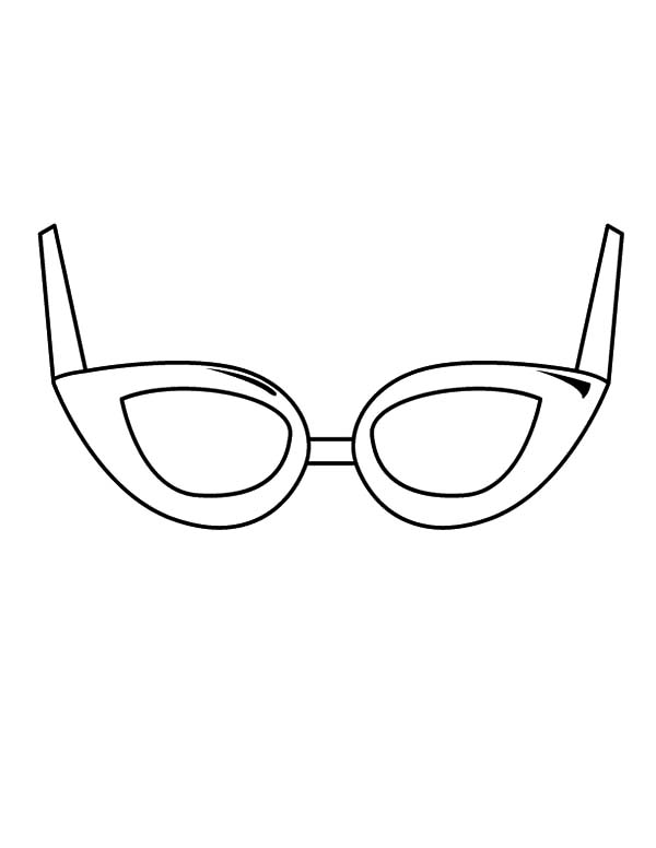 Eyeglasses, : Trend Eyeglasses Coloring Pages
