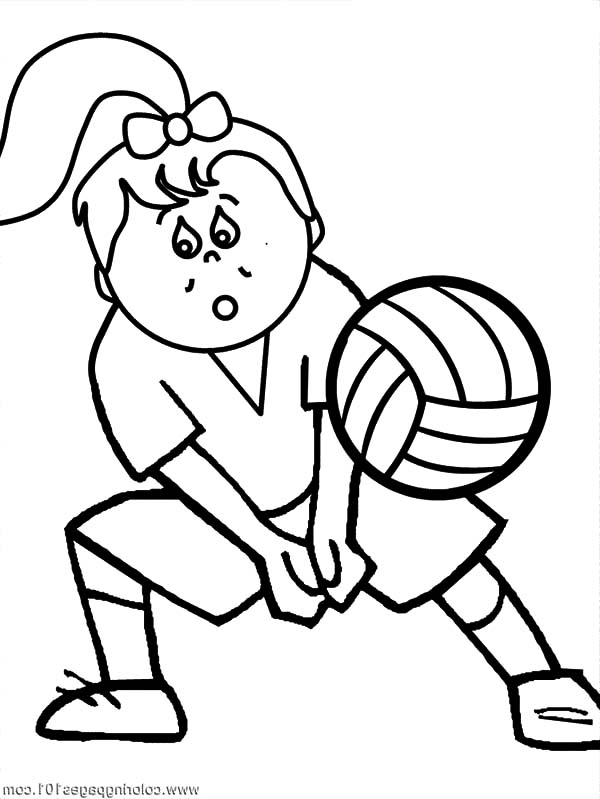 Exercise, : Volleyball Exercise Coloring Pages