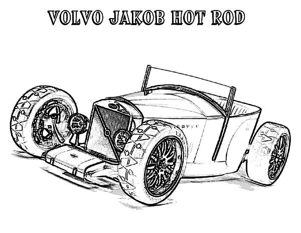 Hot Rod Cars, : Volvo Jakob Hot Rod Cars Coloring Pages