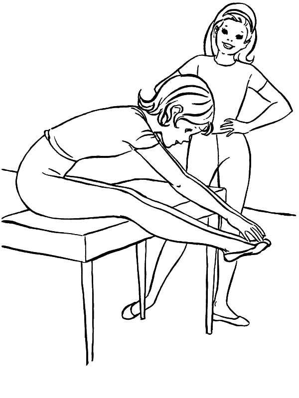 Exercise, : Warming Up Exercise Coloring Pages