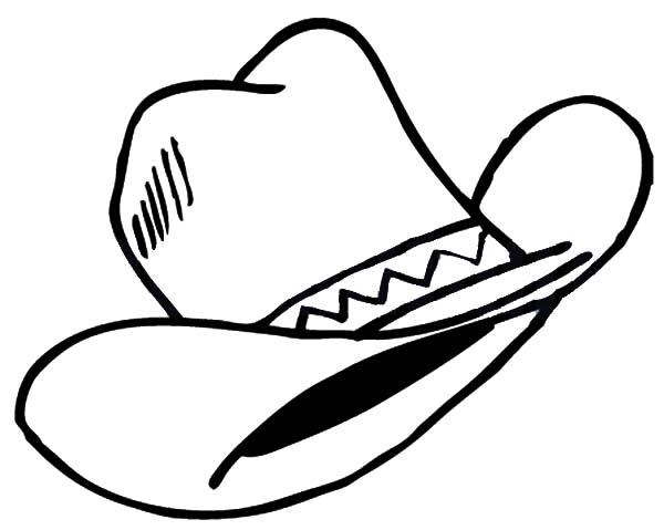 Cowboy Hat, : Wild Wild West Cowboy Hat Coloring Pages