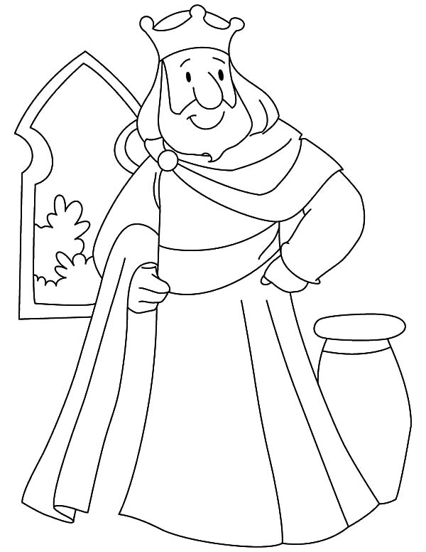 King, : Wise King Coloring Pages